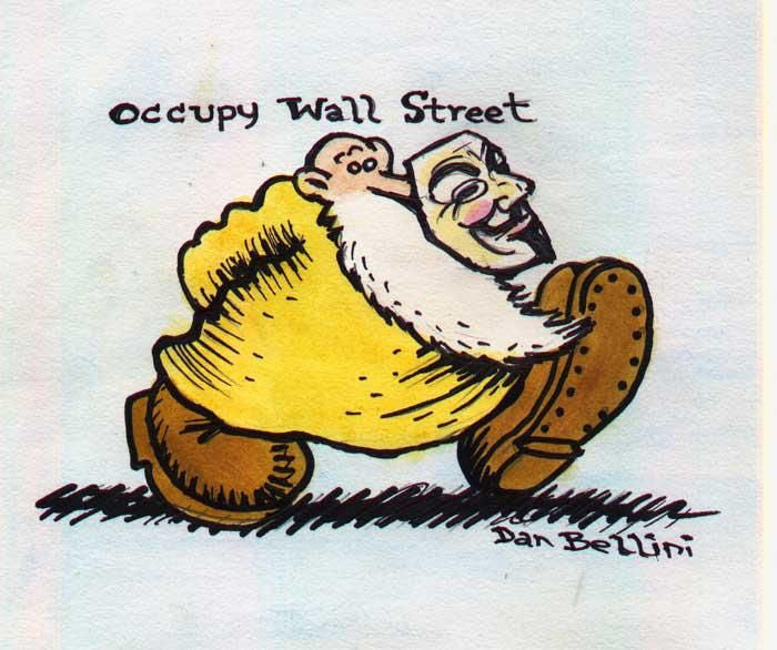 Anonymous Mr Natural | Dan Bellini Occupy Art Print | Blasted Rat
