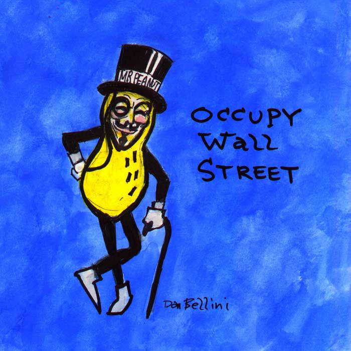 Anonymous Mr Peanut | Dan Bellini Occupy Art Print | Blasted Rat