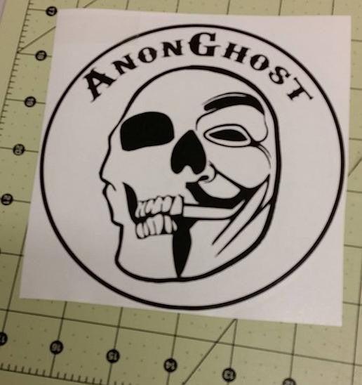 Anonymous Operation GhostSec AnonGhost | Die Cut Vinyl Sticker Decal