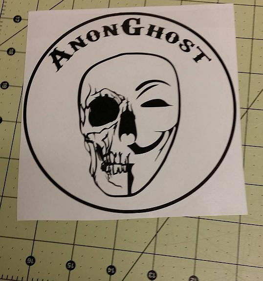 Anonymous Operation GhostSec Skull AnonGhost | Die Cut Vinyl Sticker Decal