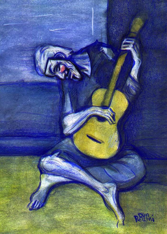 Anonymous Picasso Old Blind Guitar Player | Dan Bellini Occupy Art Print | Blasted Rat