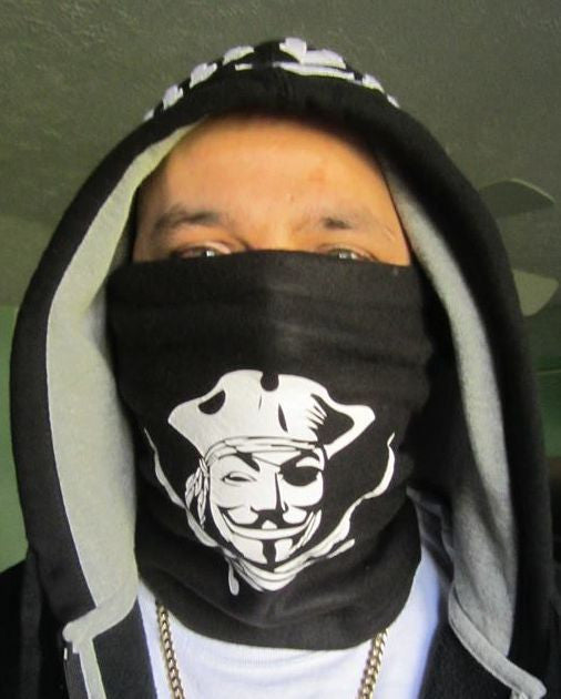 Anonymous Pirate Face Cowl Soft Dust Mask/Cold Weather Mask