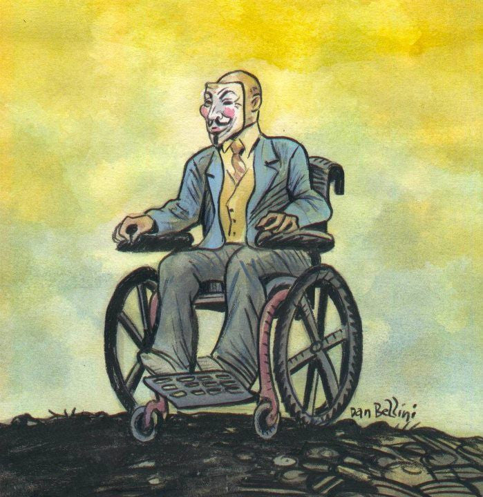 Anonymous Professor X X-Men Wheelchair | Dan Bellini Occupy Art Print | Blasted Rat