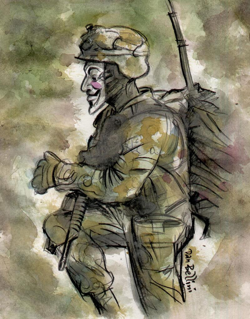 Anonymous Unknown Soldier  | Dan Bellini Occupy Art Print | Blasted Rat