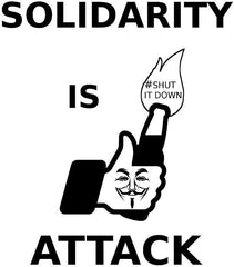#ShutItDown Anonymous Solidarity Is Attack Facebook Molotov Like | Die Cut Vinyl Sticker Decal