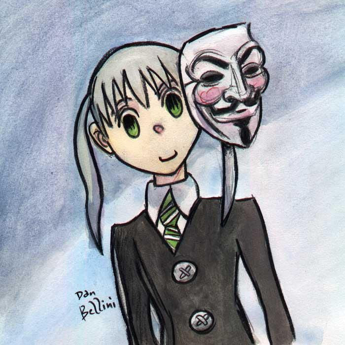 Anonymous Soul Eater Maka Albarn | Dan Bellini Occupy Art Print | Blasted Rat