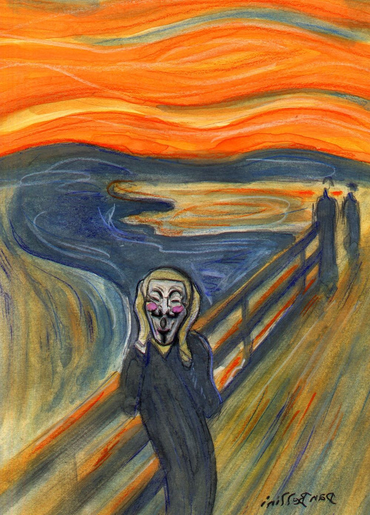 Anonymous The Scream Edvard Munch Skrik Schrei Der Natur | Dan Bellini Occupy Art Print | Blasted Rat