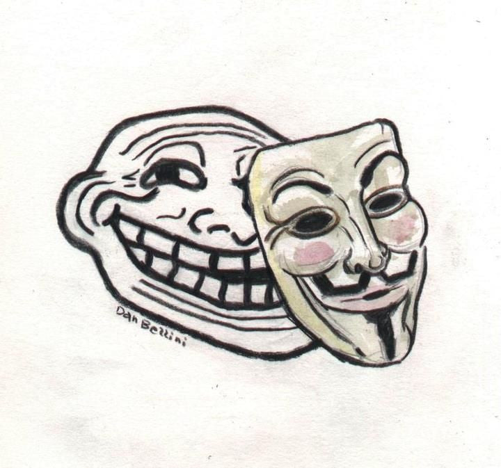 Anonymous Trollface Meme | Dan Bellini Occupy Art Print | Blasted Rat