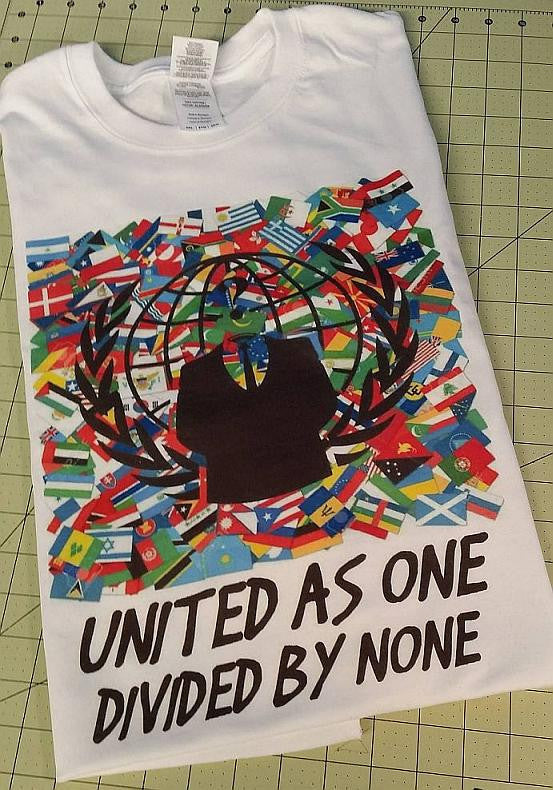 Anonymous United As One Divided By None Country Flags T-shirt