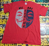 Anonymous We Are Legion Ghost Gray Blue Mask T-shirt