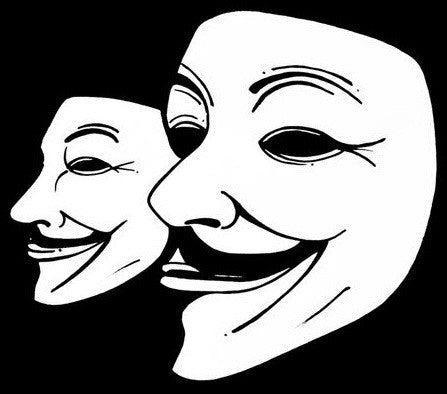 Anonymous Guy Fawkes Masks Die Cut Vinyl Sticker Decal