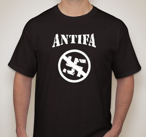 Antifa Strikethrough Swastika T-shirt