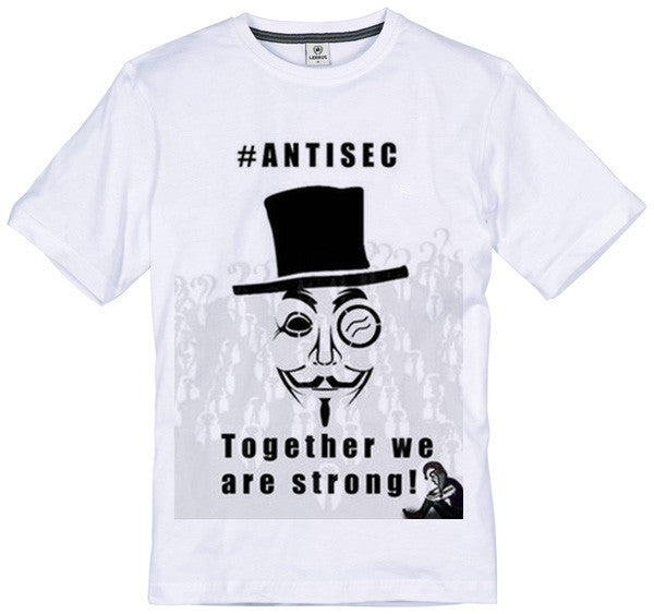 Anonymous #AntiSec Together We Are Strong T-shirt | Blasted Rat
