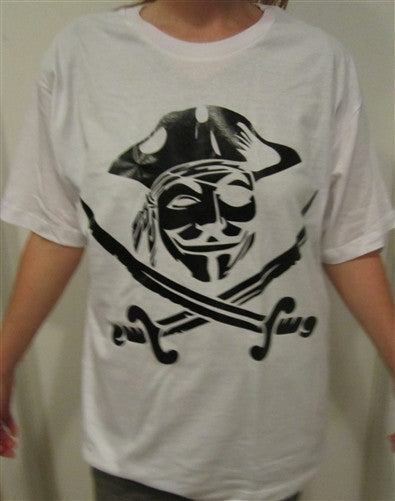 Anonymous Pirate T-shirt | Black Image | Blasted Rat