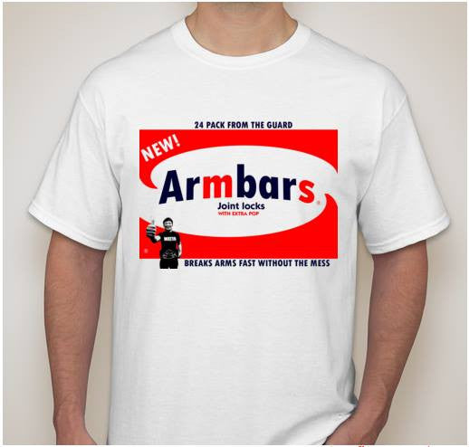 Armbars MMA Fun T-shirt Breaks Arms Fast Without The Mess | Blasted Rat