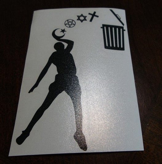 Atheist Baller  |  Die Cut Vinyl Sticker Decal | Blasted Rat