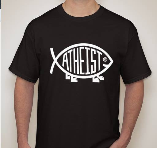 Atheist Darwin Fish Evolution T-shirt | Blasted Rat