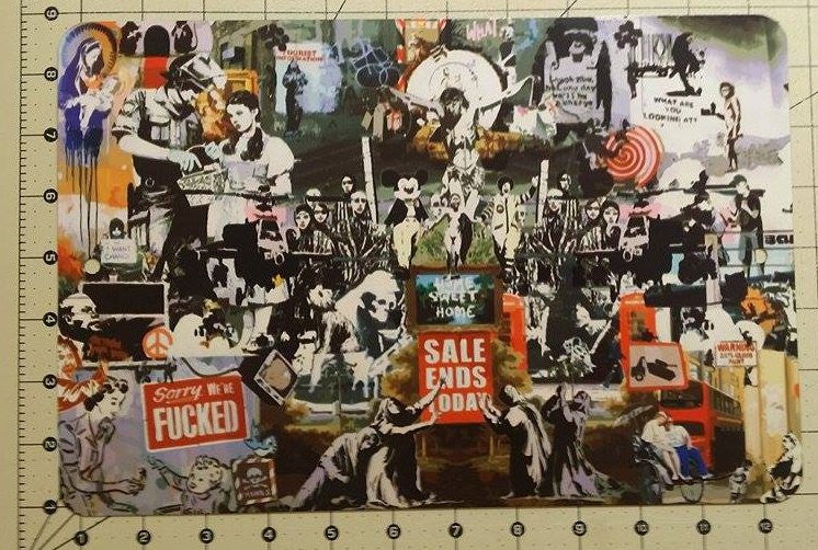 Banksy Montage Metal Sign We Are Fucked Mines Dorothy Sale Ends Today 12x8 Inch | Blasted Rat
