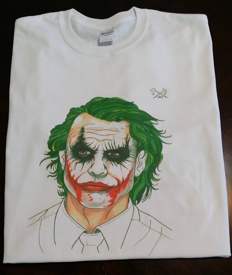 Joker Batman Heath Ledger 187 T-shirt