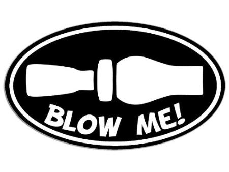 Blow me duck call - Die Cut Vinyl Sticker Decal
