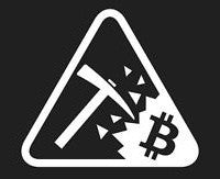 Bitcoin Miner Logo | Die Cut Vinyl Sticker Decal | Blasted Rat