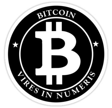 Bitcoin Vires In Numeris Logo | Die Cut Vinyl Sticker Decal | Blasted Rat