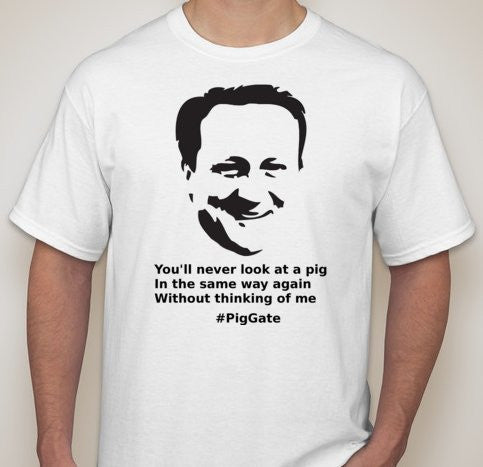 David Cameron Pig Gate T-shirt | Blasted Rat