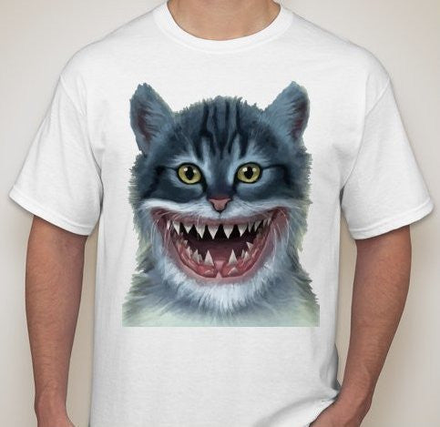 Cat With Shark Smile #Caturday T-shirt | Blasted Rat