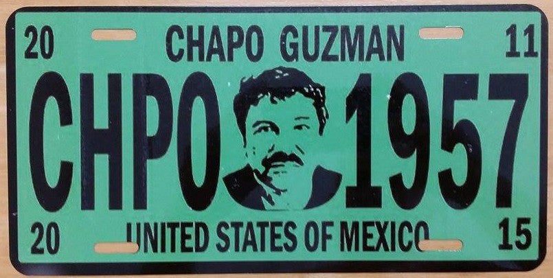 Chapo Guzman Mexico 1957 Vanity License Plate