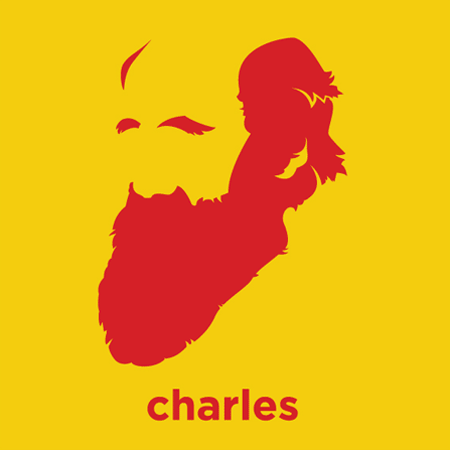 Charles Darwin - Die Cut Vinyl Sticker Decal