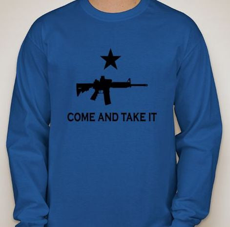 Come And Take It AR15 Long Sleeve T-shirt | Blasted Rat
