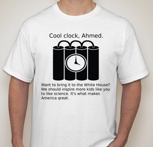 #StandWithAhmed Ahmed Clock Obama Tweet Quote Joke T-shirt | Blasted Rat