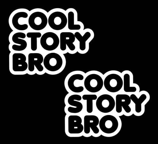 2 of Cool Story Bro JDM Racing | Die Cut Vinyl Sticker Decal | Blasted Rat
