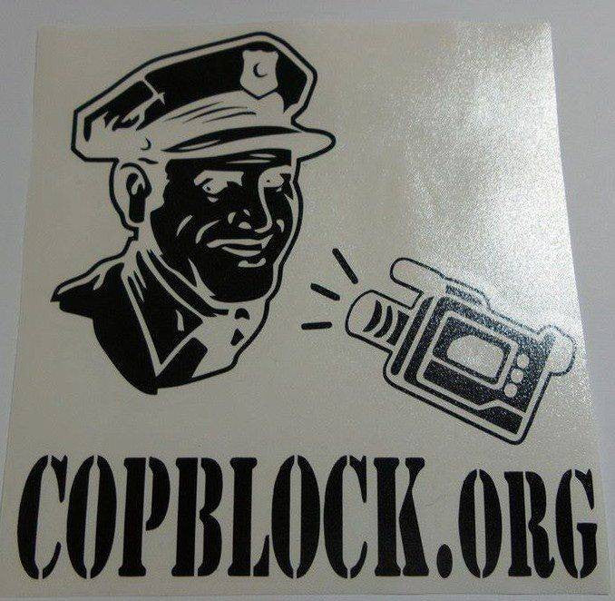 CopBlock.org | Die Cut Vinyl Sticker Decal