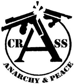 Crass Anarchy And Peace | Die Cut Vinyl Sticker Decal | Blasted Rat