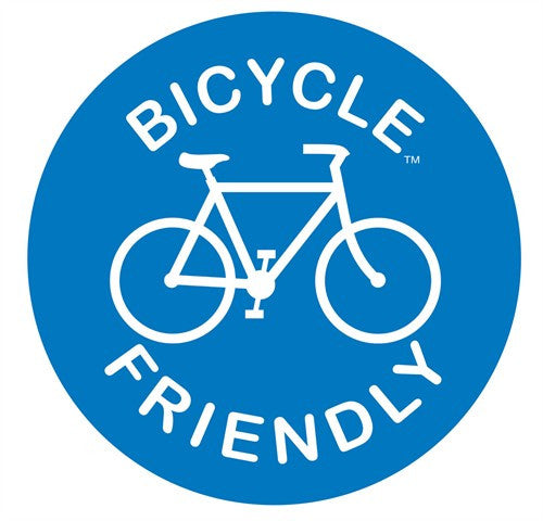 Bicycle Friendly Road Sign | Die Cut Vinyl Sticker Decal Sticker | Blasted Rat