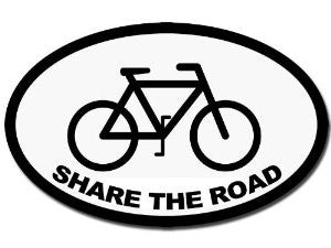 Share The Road Bike Logo | Die Cut Vinyl Sticker Decal Sticker | Blasted Rat