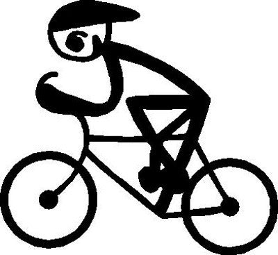 Cycling Stick Figure | Die Cut Vinyl Sticker Decal Sticker | Blasted Rat