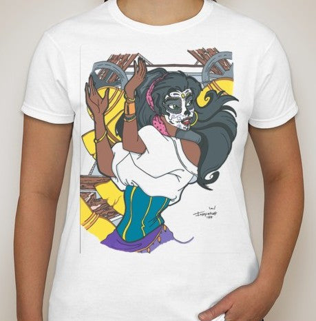 Day of the Dead | Disney Princess Esmeralda T-shirt | Blasted Rat