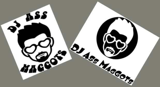 DJ Ass Maggots Combo Pack of 2 | Die Cut Vinyl Sticker Decal