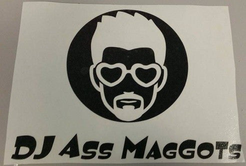 DJ Ass Maggots Logo | Die Cut Vinyl Sticker Decal