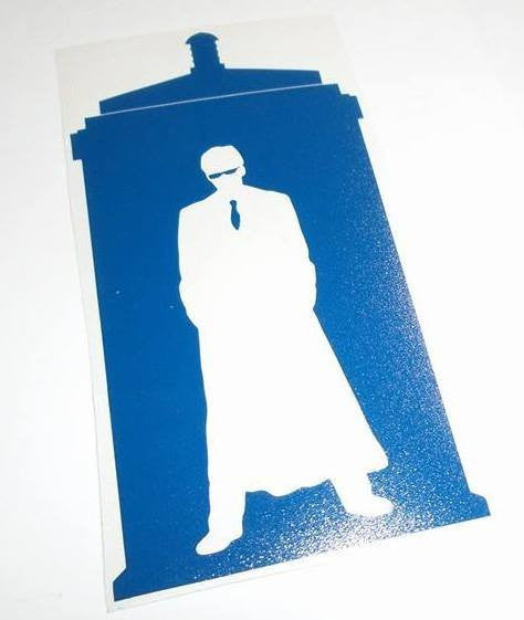 Dr Who 10th Doctor Tardis Glasses | Die Cut Vinyl Sticker Decal