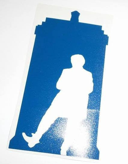 Dr Who 2nd Doctor Tardis | Die Cut Vinyl Sticker Decal