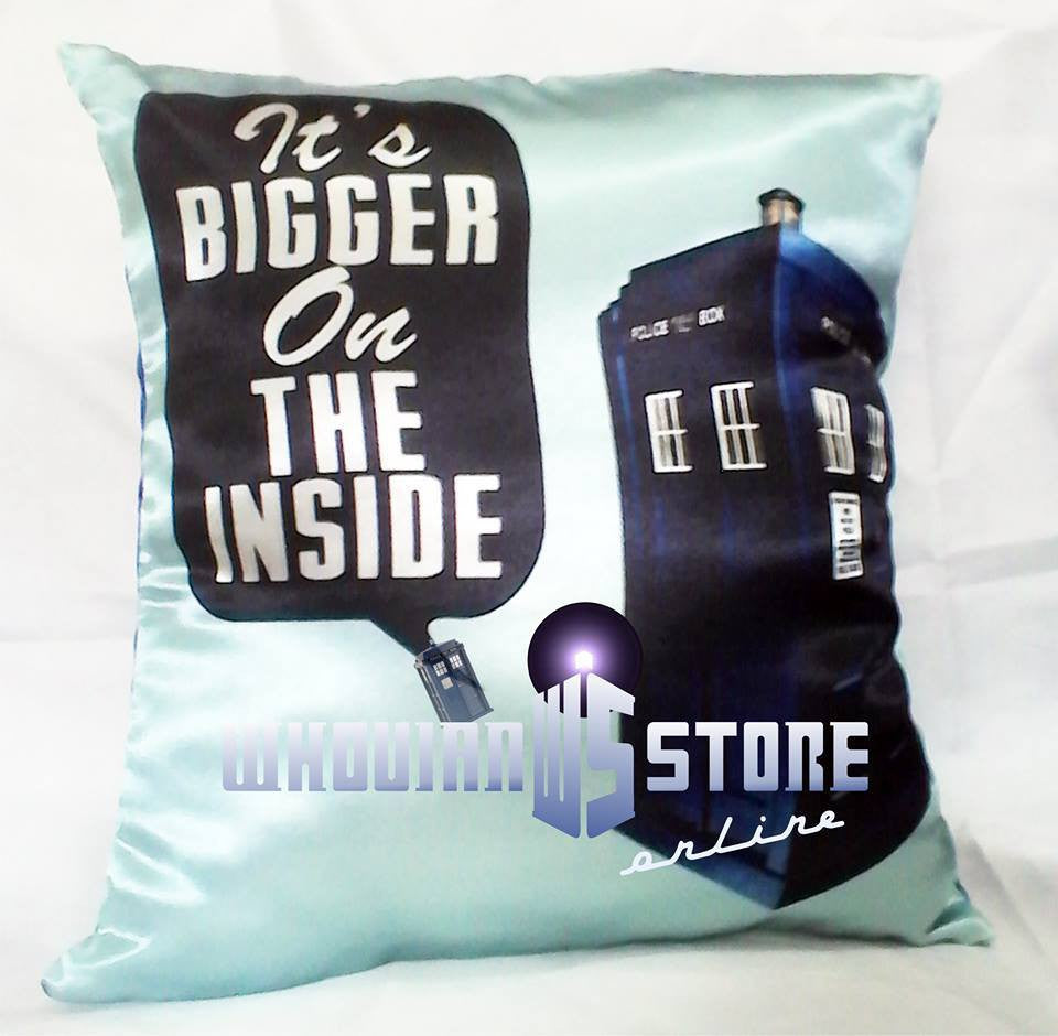 Dr Who Pillow Its Bigger On The Inside | Blasted Rat