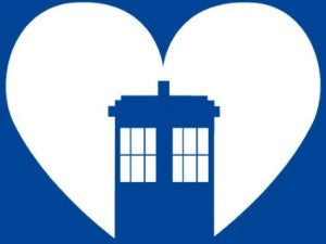 Doctor Who Tardis in Heart | Die Cut Vinyl Sticker Decal | Blasted Rat
