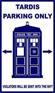Doctor Who Tardis Parking Only | Die Cut Vinyl Sticker Decal | Blasted Rat
