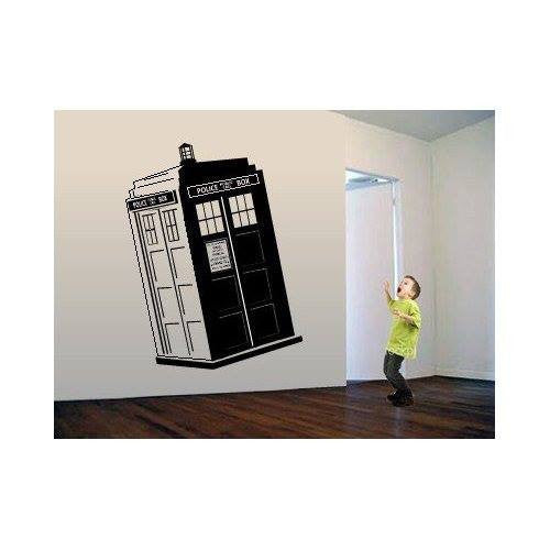 doctor who tardis police box whovian die cut vinyl wall decal sticker blasted rat. Black Bedroom Furniture Sets. Home Design Ideas