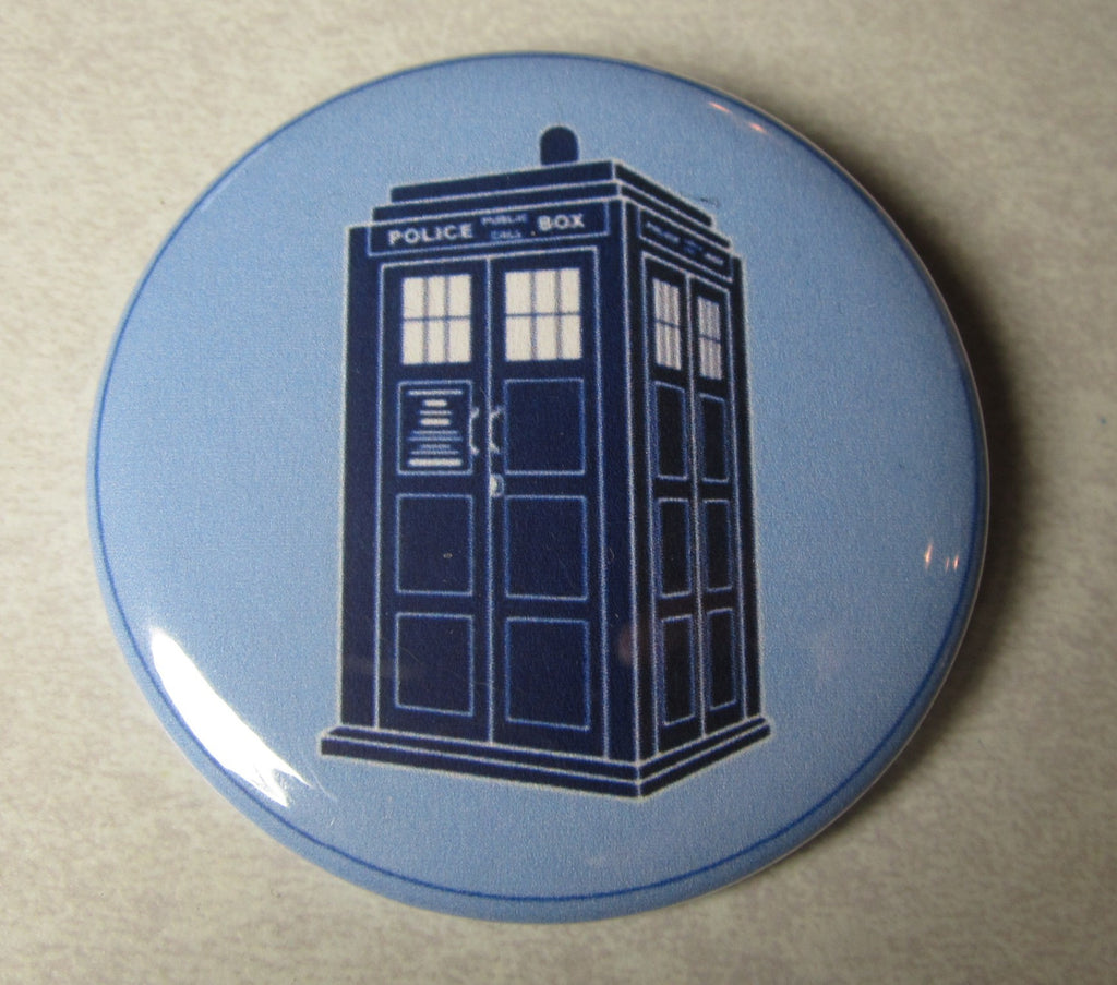 Doctor Who Police Booth Whovian Button