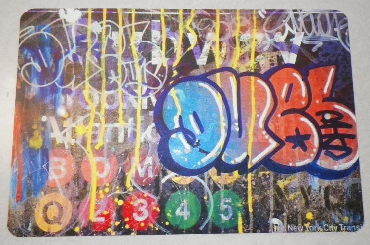 Duel Graffiti NYC Bombed Subway Sign Replica 11x14"