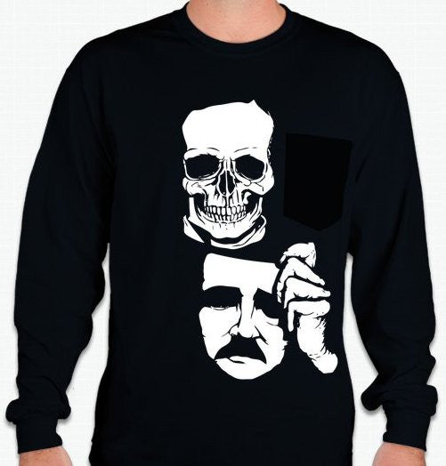 Edgar Allan Poe Long Sleeve T-shirt  | Blasted Rat